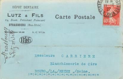 """CPA FRANCE 67 """"Strasbourg, Carte Publicitaire, Dépot Dentaire Lutz et fils"""""""