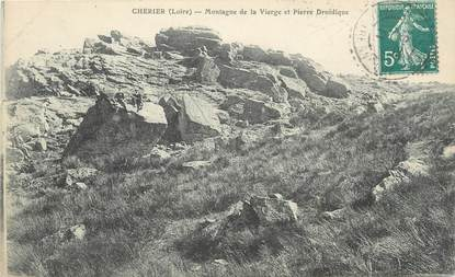 """CPA FRANCE 42 """"Cherier, Montagne de la Vierge et Pierre Druidique"""""""