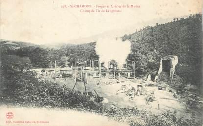 """CPA FRANCE 42 """"St Chamond, Forges et Aciéries de la Marine, Champ de tir de Langonaud"""""""