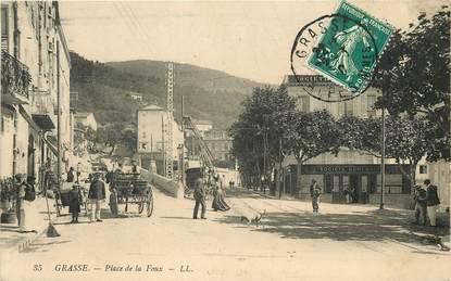 """CPA FRANCE 06 """"Grasse, Place de la Foux"""""""