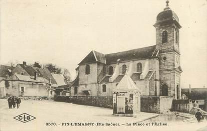 """CPA FRANCE 70 """"Pin L'Emagny, Place de l'Eglise"""""""