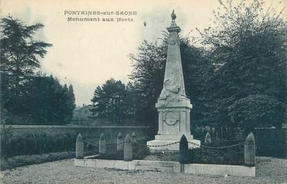 """CPA FRANCE 70 """"Fontaine-sur-Saône, Monument aux Morts"""""""