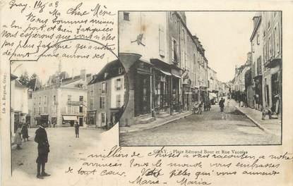 """CPA FRANCE 70 """"Gray, Place Edmond Bour, Rue Vanoise"""""""