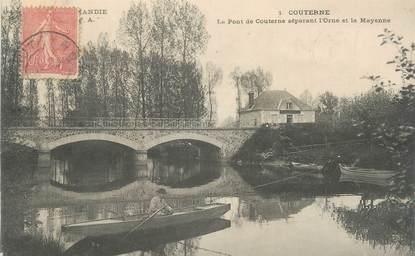 """CPA FRANCE 61 """"Couterne, Pont de Couterne séparant l'Orne et la Mayenne"""""""