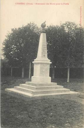 "CPA FRANCE 61 ""Chandai, Monument aux Morts"""