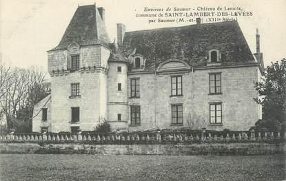 """CPA FRANCE 49 """"St Lambert des Levées, Château de Lamote"""""""