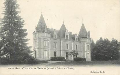 """CPA FRANCE 49 """"St Sauveur de Flée, Chateau de Houssay"""""""