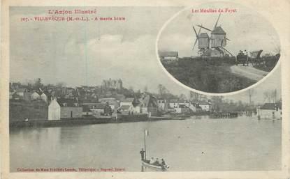 """CPA FRANCE 49 """"Villeveque, Moulin du Fayet, Marée Haute"""""""