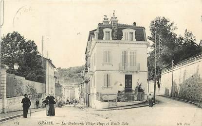 """CPA FRANCE 06 """"Grasse, Bld Victor Hugo et Emile Zola"""""""