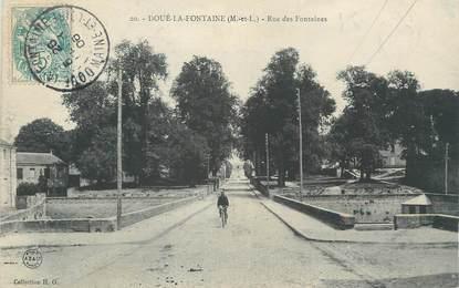 """CPA FRANCE 49 """"Doué la Fontaine, Rue des Fontaines"""""""