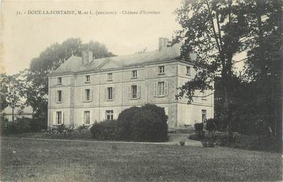 "CPA FRANCE 49 ""Doué la Fontaine, Chateau d'Ecottiers"""