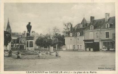 """CPA FRANCE 49 """"Chateauneuf sur Sarthe, Place de la Mairie"""""""