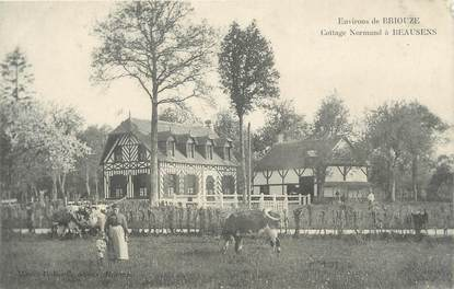 "CPA FRANCE 61 ""Environs de Briouze, Cottage Normand à Beausens"""