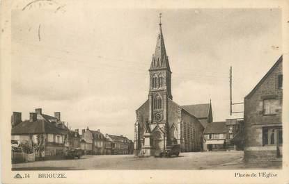 """CPA FRANCE 61 """"Briouze, Place de l'Eglise"""""""