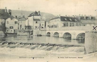 """CPA FRANCE 25 """"Quingey, le pont sur la Loue"""""""