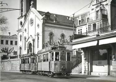 "CPSM SUISSE ""Montreux"" TRAIN / LOCOMOTIVE / TRAMWAY"
