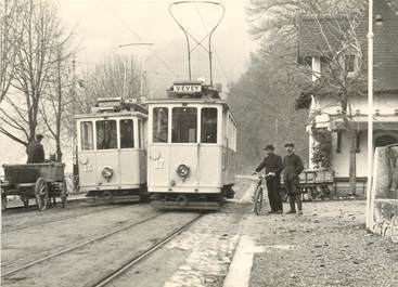 """CPSM SUISSE """"Chillon"""" TRAIN / TRAMWAY"""