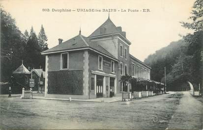 """/ CPA FRANCE 38 """"Uriage les Bains, la poste"""""""