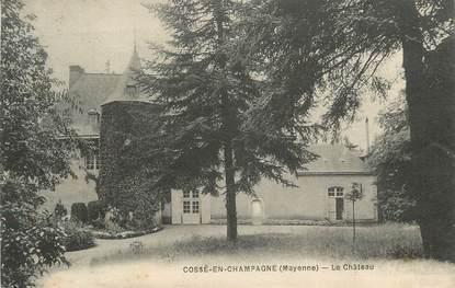 """CPA FRANCE 53 """"Cossé en Champagne, Chateau"""""""