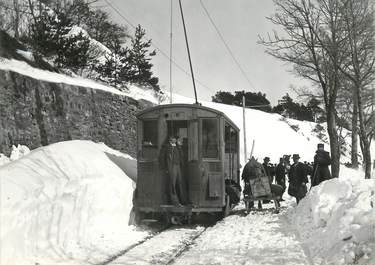 """CPSM SUISSE """"Mont"""" TRAIN / TRAMWAY"""