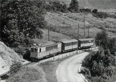 """CPSM SUISSE """"Loeche les Bains """" TRAIN / TRAMWAY"""