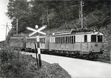 """CPSM SUISSE """"Rumeling"""" TRAIN / TRAMWAY"""