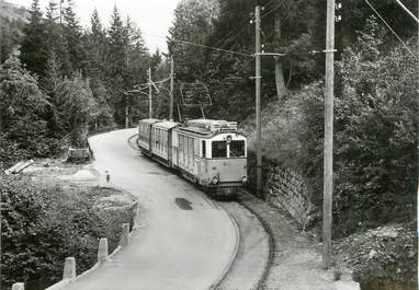 "CPSM SUISSE ""Russengraben"" TRAIN / TRAMWAY"