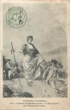 "CPA FRANCE MONTE CARLO ""Monte Carlo, L'Alpinisme, Tableau par Hippolyte Luca"""