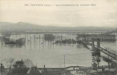 """CPA FRANCE 01 """"Trévoux, Inondations de Janvier 1910"""""""