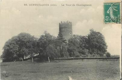 """CPA FRANCE 01 """"Genouilleux, La Tour de Chavagneux"""""""
