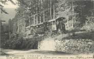 "88 Vosge CPA FRANCE 88 ""Gérardmer, Le Train en Forêt, Tram"""