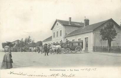 """CPA FRANCE 88 """"Contrexéville, La Gare"""""""