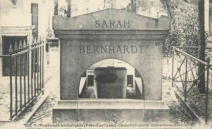 """CPA FRANCE 75 """"Paris 20ème, Tombeau de Sarah Bernhardt"""""""