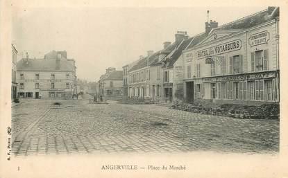"""CPA FRANCE 91 """"Angerville, la Place du Marché"""""""