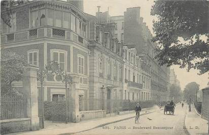 "CPA FRANCE 75 ""Paris 16ème, Boulevard Beauséjour"""
