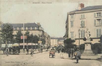 """CPA FRANCE 42 """"Roanne, Place d'Armes"""""""
