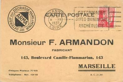 "CPA FRANCE 13 ""Marseille, Fabricant F.Armandon"""