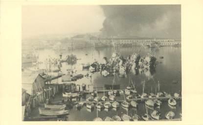 PHOTO DU SABORDAGE DE LA FLOTTE A TOULON 1942 CATASTROPHE MARINE MILITAIRE