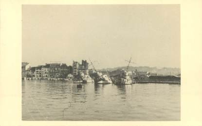 PHOTO DU SABORDAGE DE LA FLOTTE A TOULON 1942 / CATASTROPHE / MARINE MILITAIRE