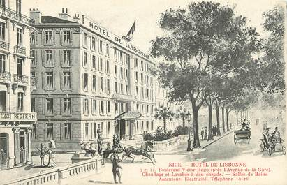 "CPA FRANCE 06 ""Nice, Hotel de Lisbonne"""