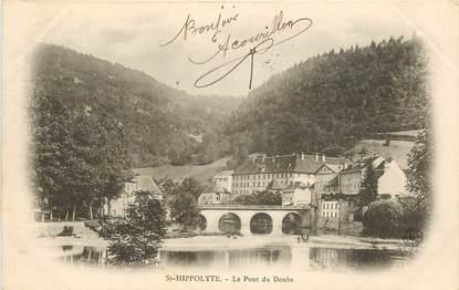 """CPA FRANCE 25 """"Saint Hippolyte, le pont du Doubs"""""""