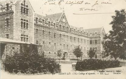 "CPA FRANCE 50 ""St Lo, Collège d'Agneau"""