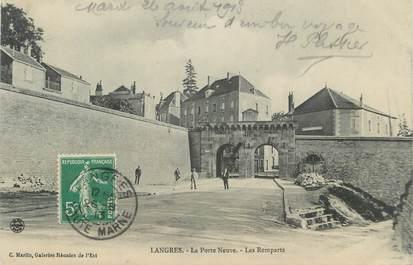 """CPA FRANCE 52 """"Langres, La Porte Neuve, Les Remparts"""""""