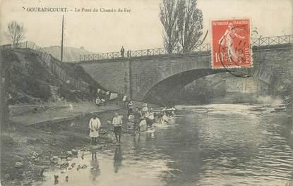 """CPA FRANCE 54 """"Gouraincourt, Pont et Chemin de Fer"""""""