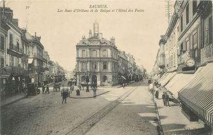 """CPA FRANCE 49 """"Saumur, Rue d'Orléans et de Balzac, Hotel des Postes"""""""
