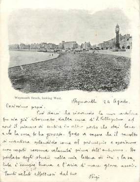 "CPA ANGLETERRE ""Weymouth beach"""
