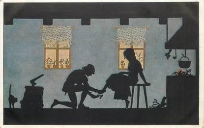 "CPA ALLEMAGNE ""Galerie Munchner Meister"" / CENDRILLON / OMBRE / SILHOUETTE"