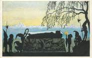 """Allemagne CPA ALLEMAGNE """"Galerie Munchner Meister"""" / BLANCHE NEIGE / OMBRE / SILHOUETTE"""