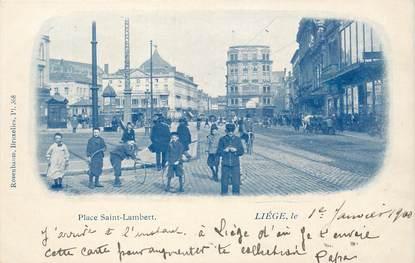 """CPA BELGIQUE """"Liège, Place Saint Lambert"""""""