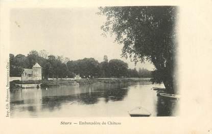 """CPA FRANCE 95 """"Stors, embarcadère du chateau"""""""